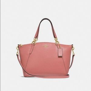 Coach Small Kelsey Satchel in Pebble Leather Melon